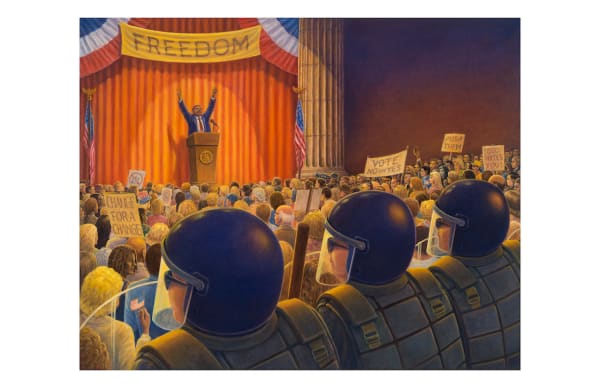 Cost of Freedom political art