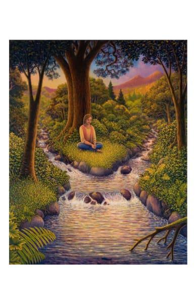 Healing Waters 11 x 17 inch ecoprint