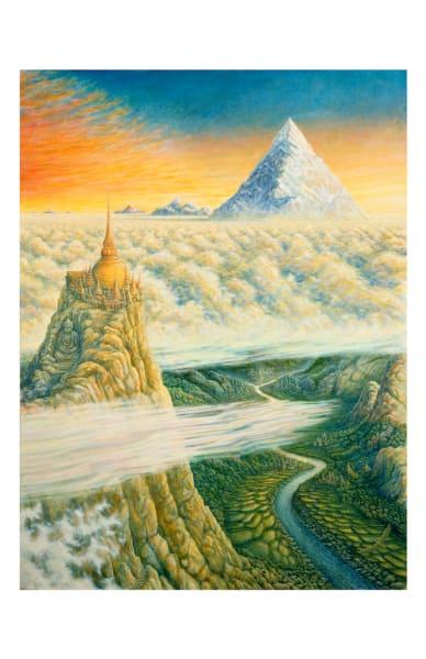 Islands in the Sky 5x7 inch notecard