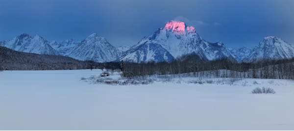 Kiss of the Sun, Mt. Moran, Jackson Hole, WY