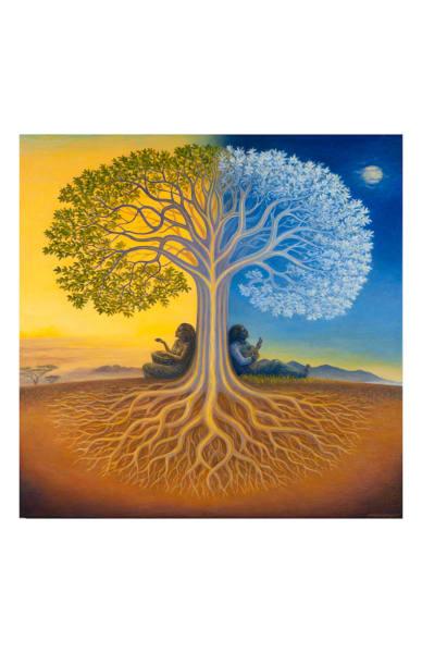 Django's Tree 5x7 inch notecard