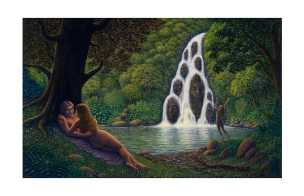 Fountain Of Youth 5x7 Inch Notecard | markhensonart