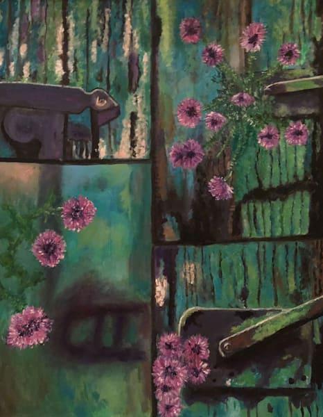 Old Door W Flowers 4 Ways Art | Marci Brockmann Author, Artist, Podcaster & Educator