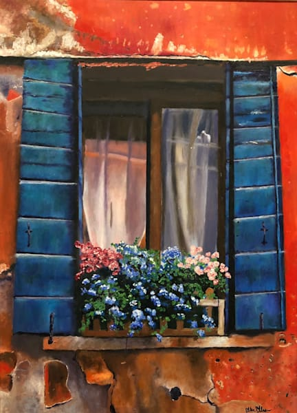 Old Window With Flowers Art | Marci Brockmann Author & Artist