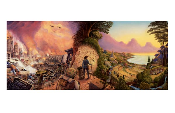 New Pioneers 5 X9 Notecard | markhensonart
