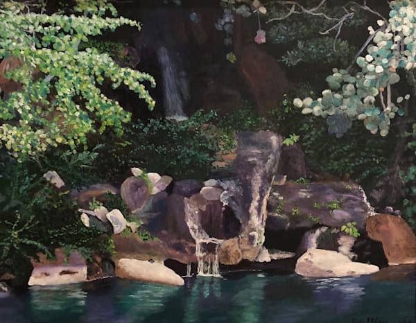 Morakami Park Water Falls Art | Marci Brockmann Author & Artist