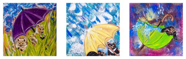 Umbrella Series trio - Australian Fauna featuring Platypus Tassie Devils and Quokkas | Tina White | Australian Native Fauna