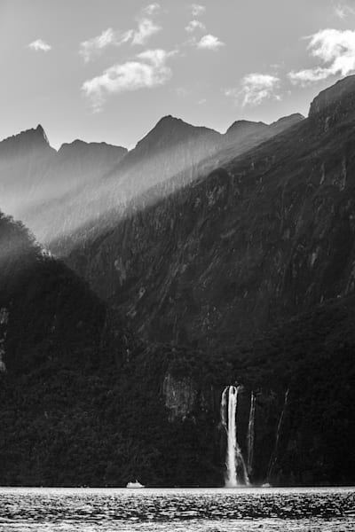 Tiny - Stirling Falls Milford Sound South Island New Zealand Doug Hall | Waterfall
