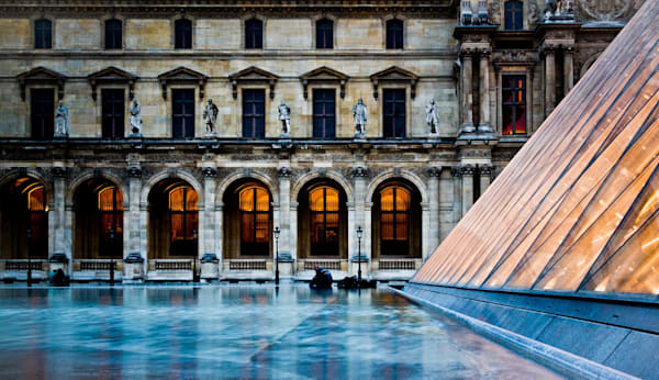 The Louvre At Dusk - Paris France | Samantha Taylor | Sunset