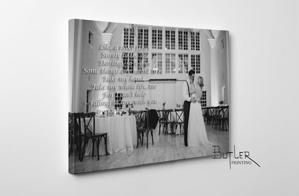 Wedding Song/Vow Canvas