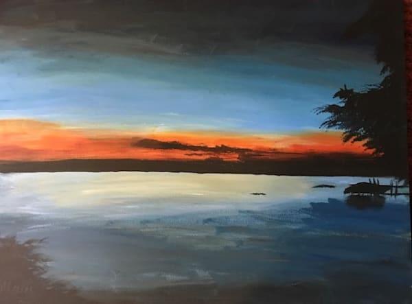 Cayuga Sunset   Marci Brockmann Author & Artist
