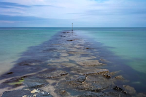 """Oak Bluffs Jetty"" Fine Art Long Exposure Martha's Vineyard Seascape Photograph"