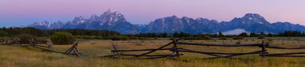 A Grand Morning, Teton National Park Panoramic