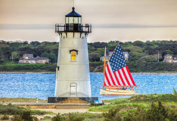 Edgartown Light Catboat