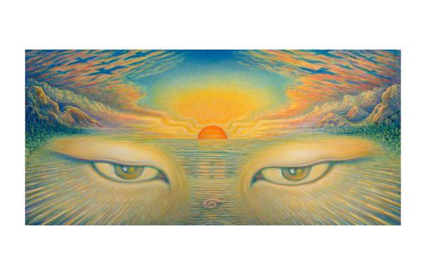 Eyes of the World 11x17 ecoprint