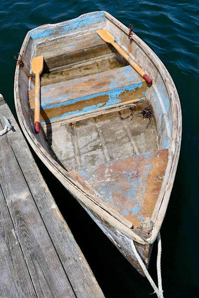 """Chatham Fish Pier Rowboat"" Cape Cod Vertical Nautical Boat Photograph"