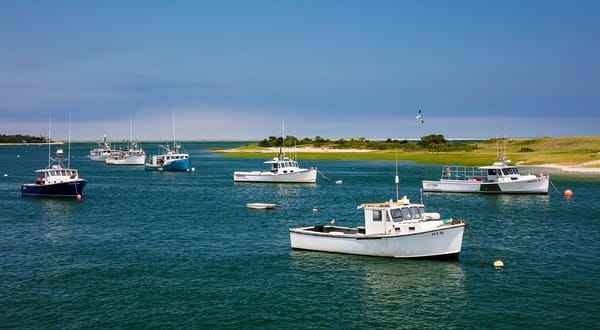 """Chatham Harbor Fishing Boats"" Large Scale Cape Cod Coast Photography"