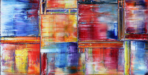 Energy Segmentation large abstract painting