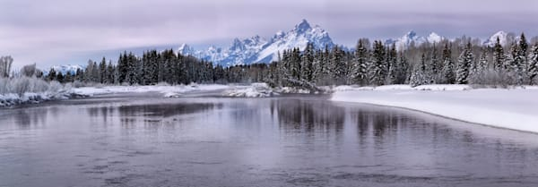 Tetons Over the Snake River, Winterscape