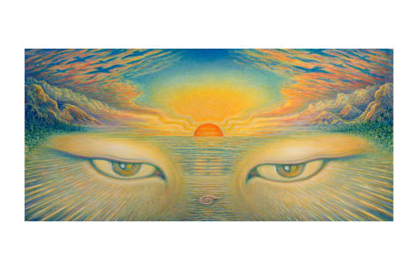 Eyes Of The World Notecard 5x9 by Mark Henson Art