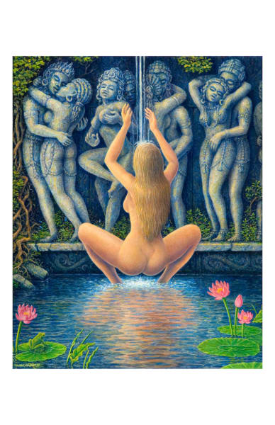Lotus Pond 5x7 inch notecard