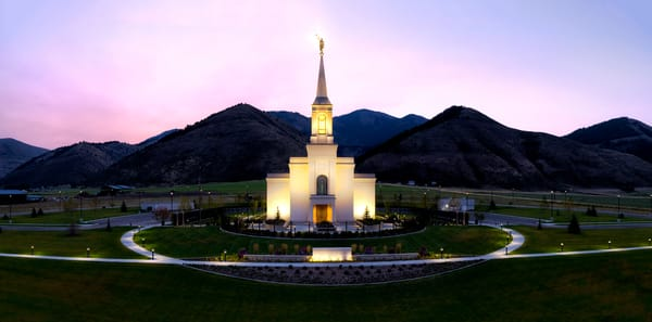 Star Valley, Wyoming LDS Temple Panoramic