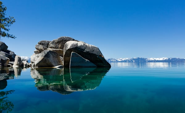 East Shore Boulder Reflections  I Lake Tahoe Landscape Photography I David N. Braun