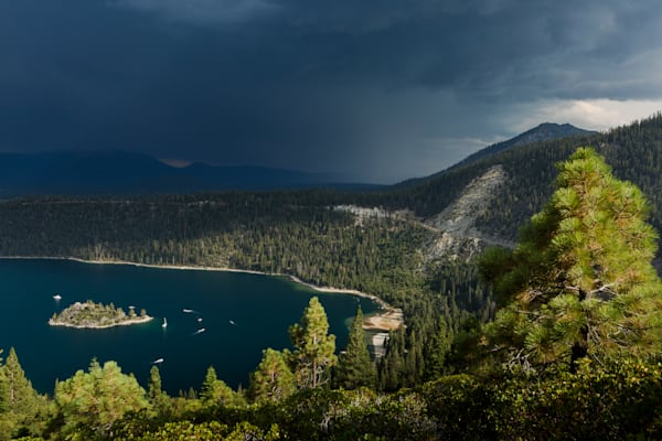 Approaching Storm, Remaining Light I Lake Tahoe Landscape Photography I David N. Braun | Emerald Bay