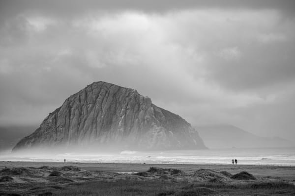 Colorless Morro Rock at Sunset