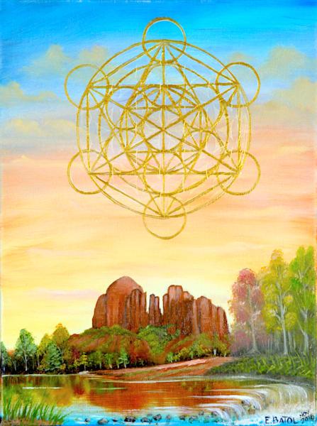 Cathedral Rock Sedona Arizona Art | errymilart