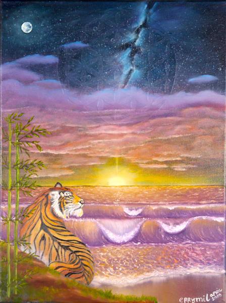 Sungazing Tiger Art | errymilart