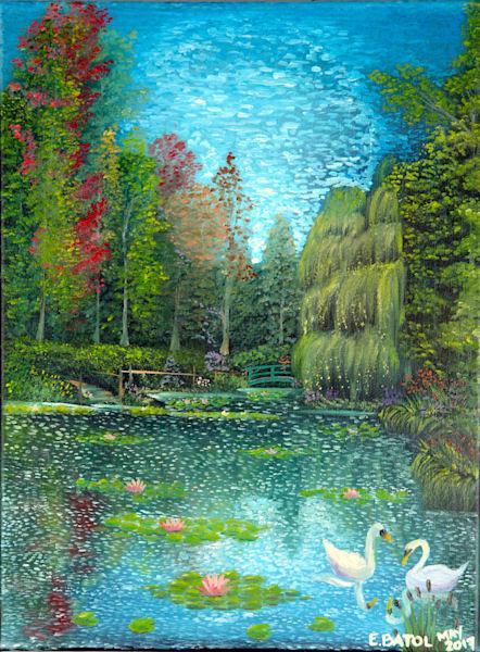 Swan lake painting: Shop Print / Errymil Batol art