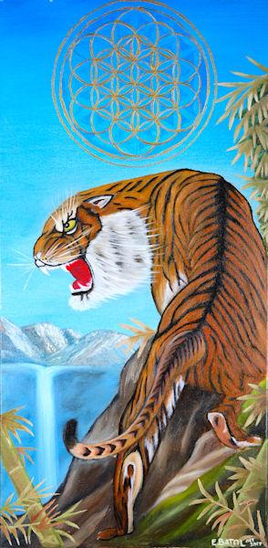 Tiger painting art: Shop Print / Errymil Batol Art