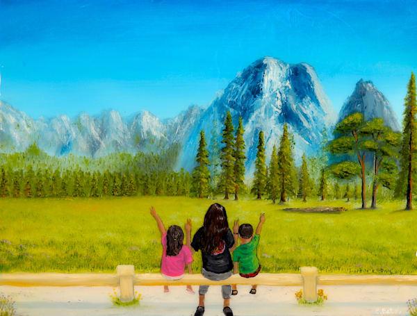Yosemite painting
