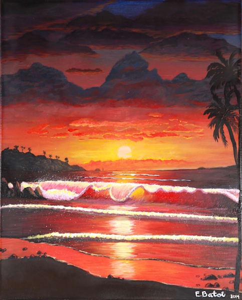 Sunset wave art: Shop Print / Errymil Batol Art