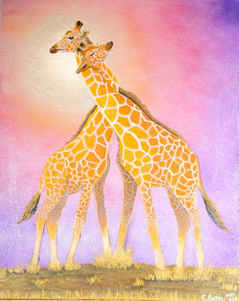 Giraffe Portrait art