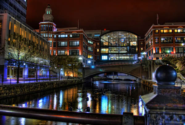 Downtown Lights, Providence at Night