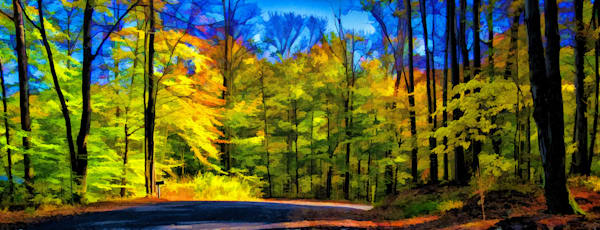 Back Road in Autumn - Manipulated Photograph