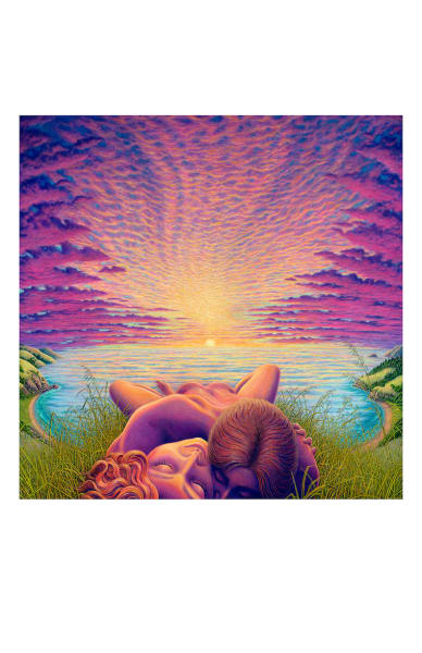 Sunset Sacrament 5x7 inch notecard