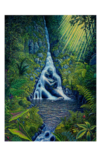 Ravine Rapture 5x7 Inch Notecard  by Mark Henson Art