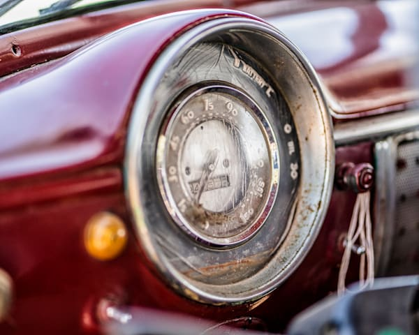 Fine Art Prints, 1950's Chevrolet Deluxe Speedometer