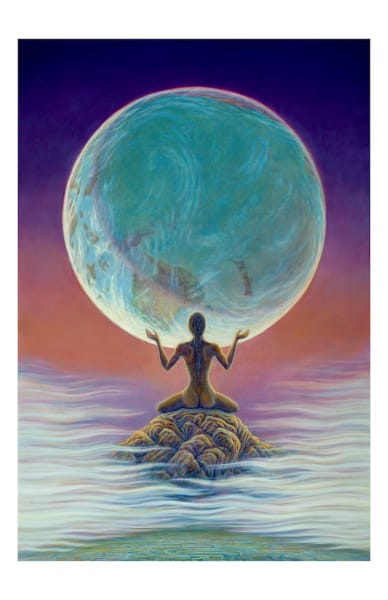 Prayer For Peace 5x7 Inch Notecard  by Mark Henson Art
