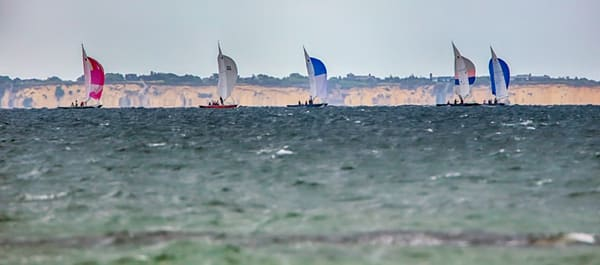 Watercolor Sailboat Race