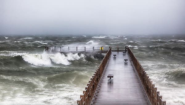 Fishing Pier Nor Easter Art | Michael Blanchard Inspirational Photography - Crossroads Gallery