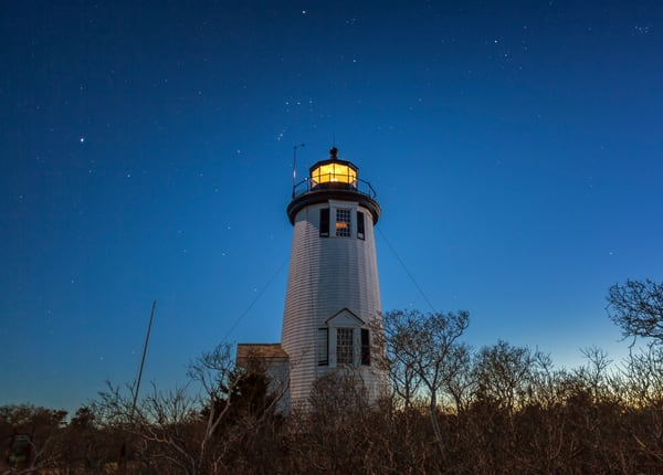Cape Poge Light Stars Photography Art | Michael Blanchard Inspirational Photography - Crossroads Gallery