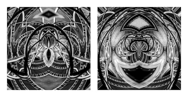 Metal Spiders Clowning (diptych)