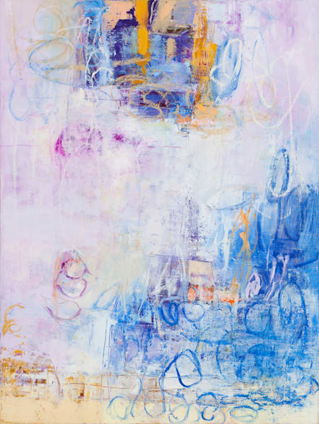 Pastel Contemporary Abstract Painting
