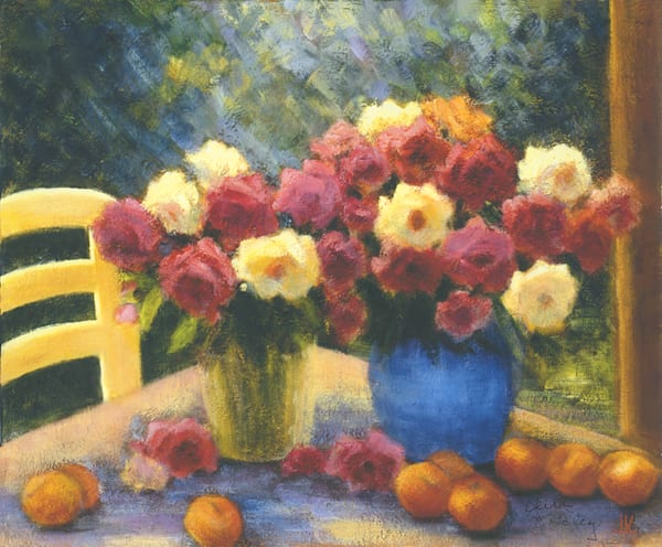 Yellow Chair and Flowers