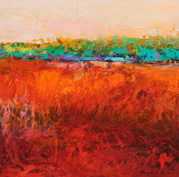 Red Southwestern Abstract Landscape