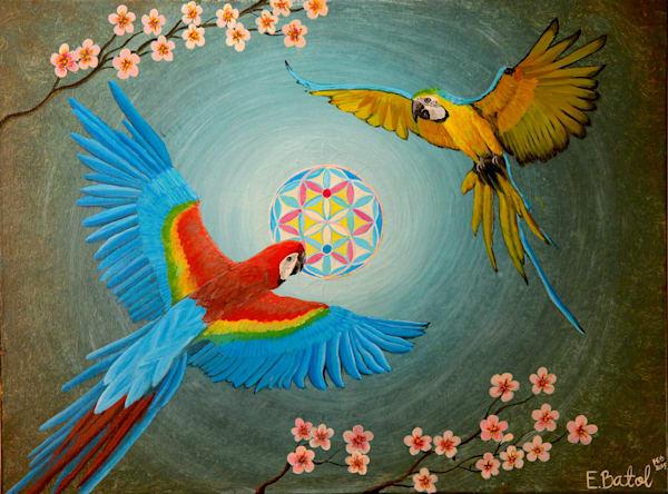 Macaw parrot painting: Shop Print / Errymil Batol Art